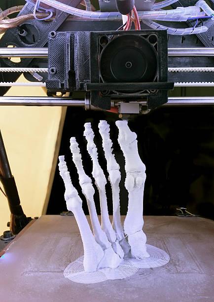 Foot Bones Printing stock photo