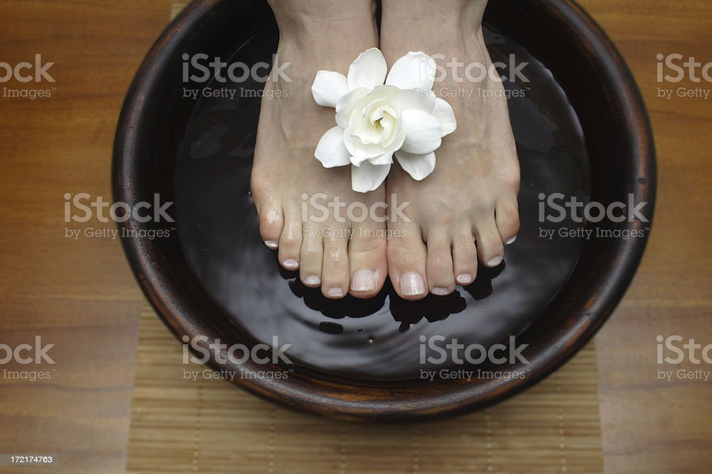 foot bowl royalty-free stock photo