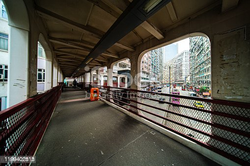 Foot bridge in North Point, Hong Kong