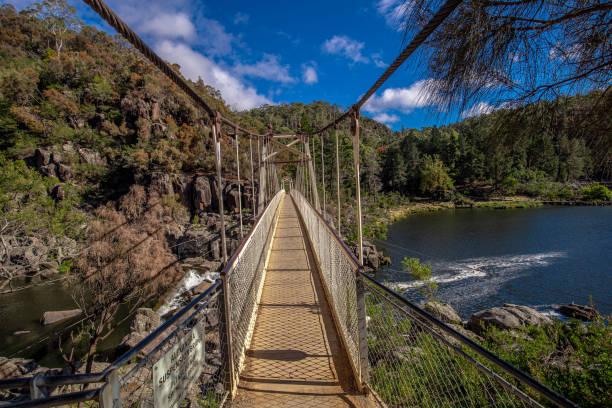 Foot Bridge over Cataract Gorge - Launceston stock photo