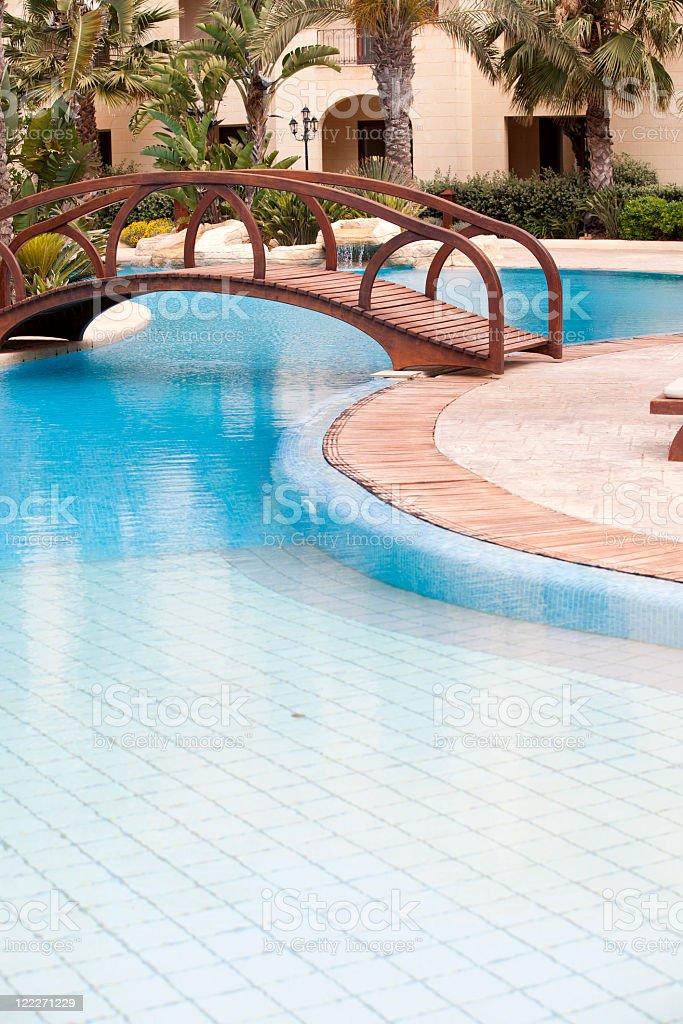 Foot bridge royalty-free stock photo