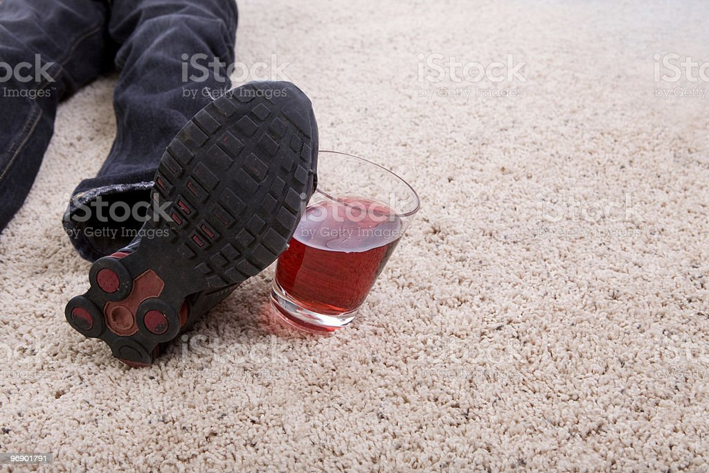 Foot Hitting Glass royalty-free stock photo