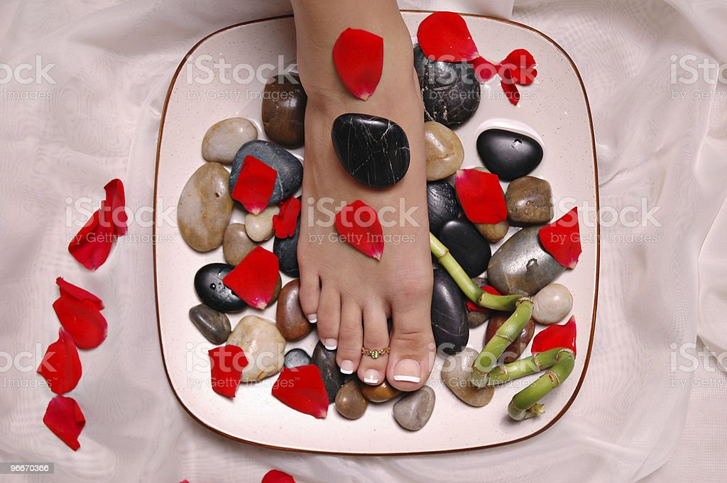 foot in a spa royalty-free stock photo