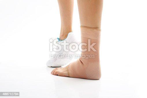 867056016istockphoto Foot injury, stabilizer ankle 488712794
