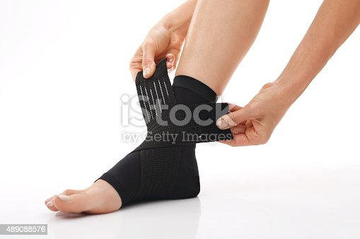 867056016istockphoto Foot injury, stabilizer ankle 489088576