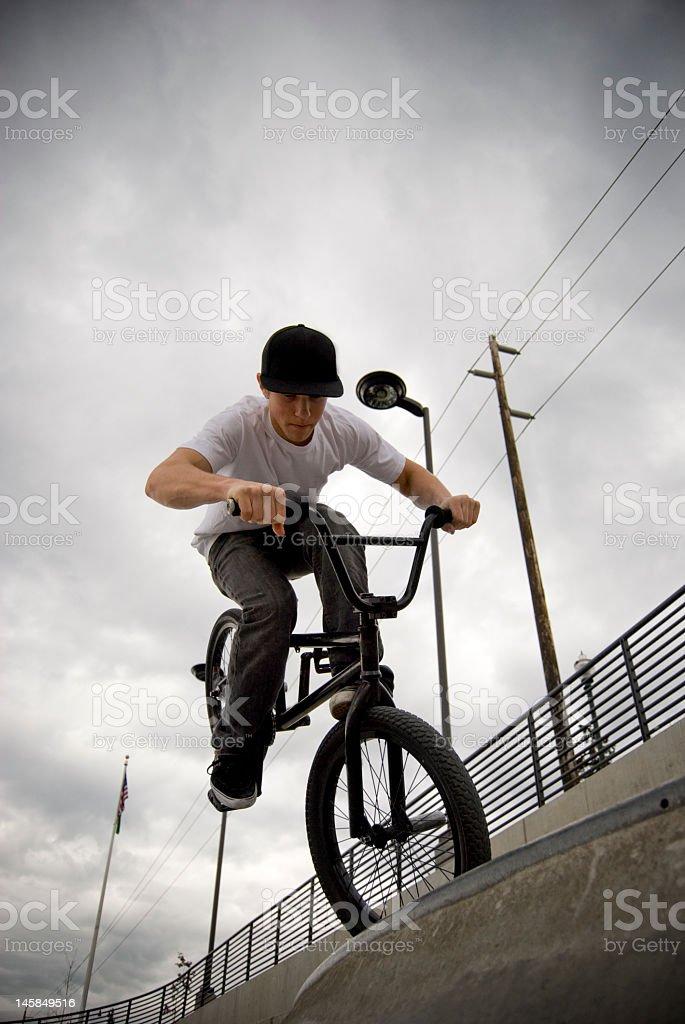 BMX foot jam royalty-free stock photo