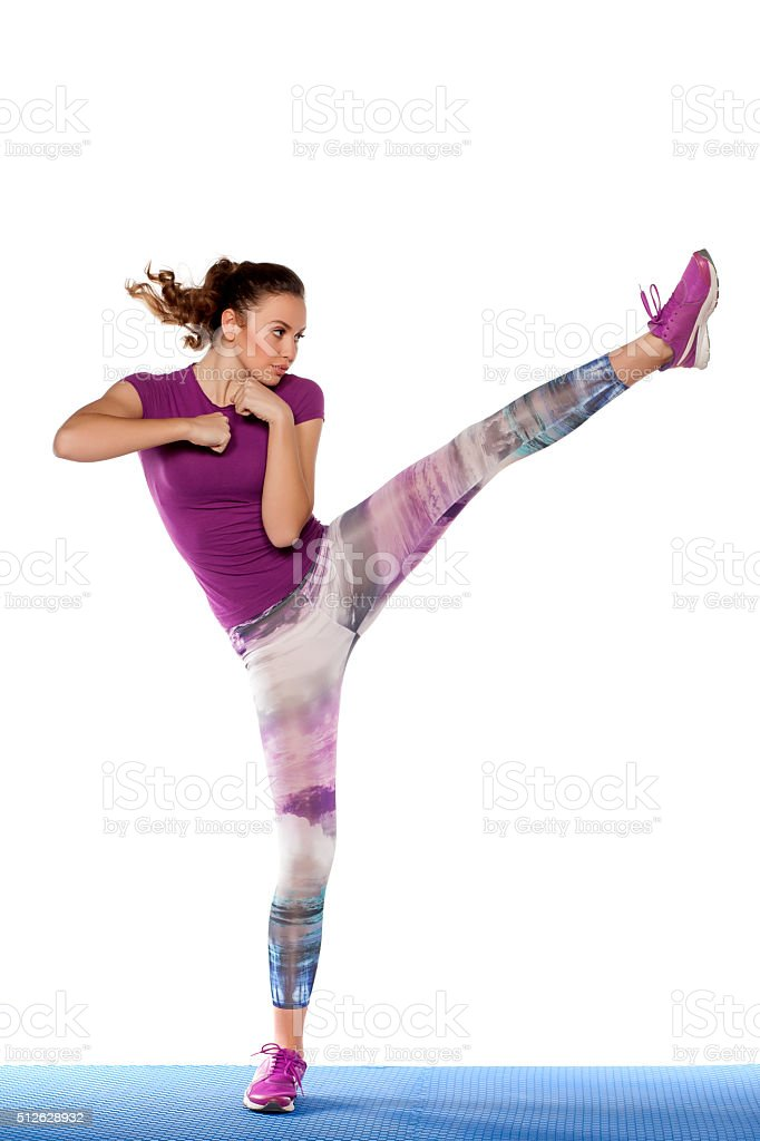 foot kick stock photo