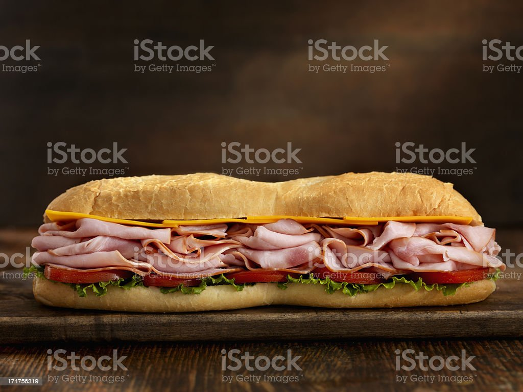 Foot Long Ham and Cheese Sub royalty-free stock photo