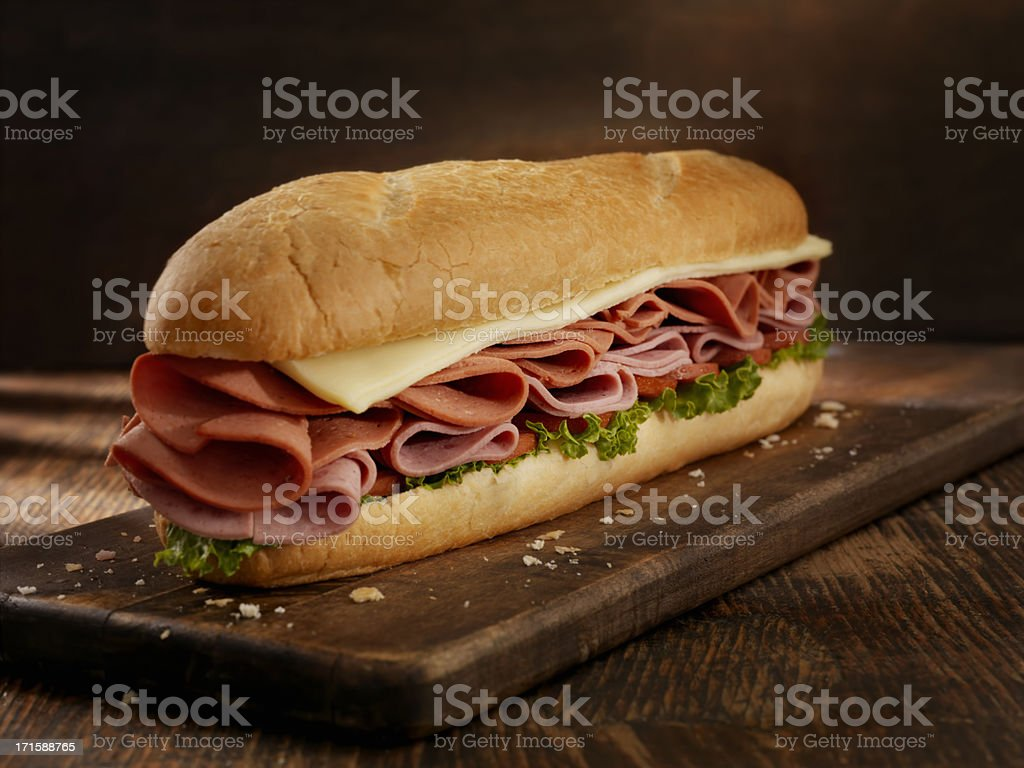 Foot Long Pizza Sub stock photo