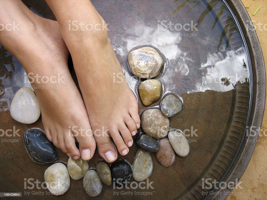 Foot Massage 2 royalty-free stock photo
