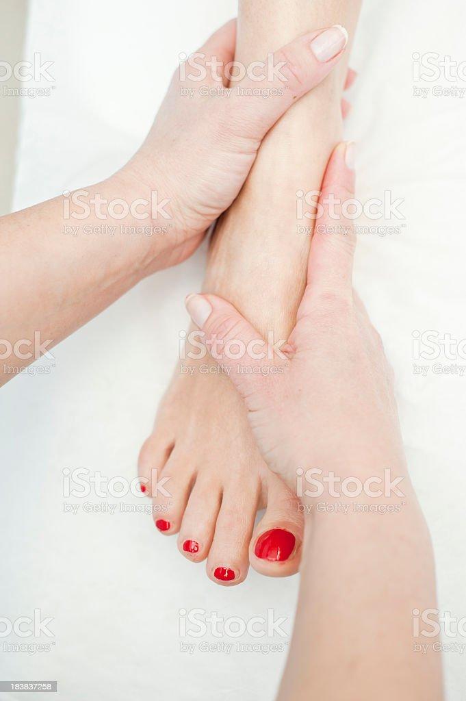 Foot Massage Close Up royalty-free stock photo