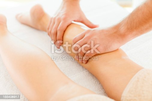 istock Foot massage in the spa salon 155408917