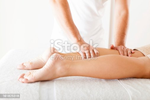 istock Foot massage in the spa salon 161825318
