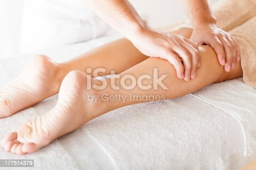 istock Foot massage in the spa salon 177514379