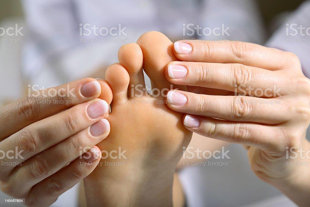 Foot Massage #4 royalty-free stock photo