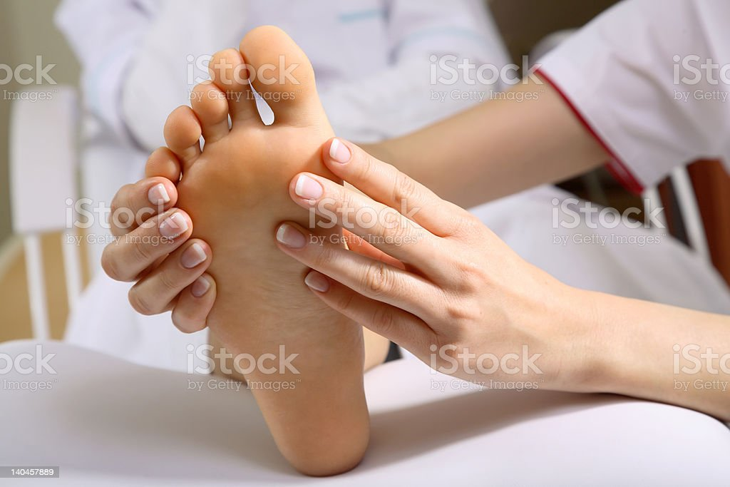 Foot Massage #5 royalty-free stock photo