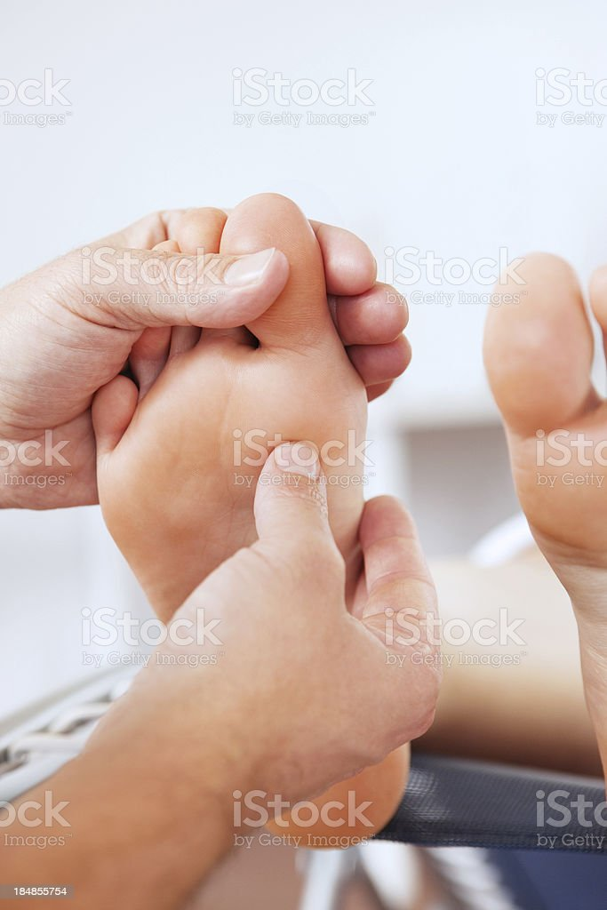 Foot Massage royalty-free stock photo