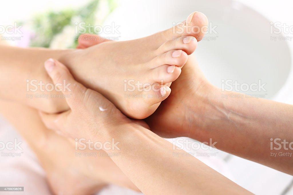 Foot massage, stock photo