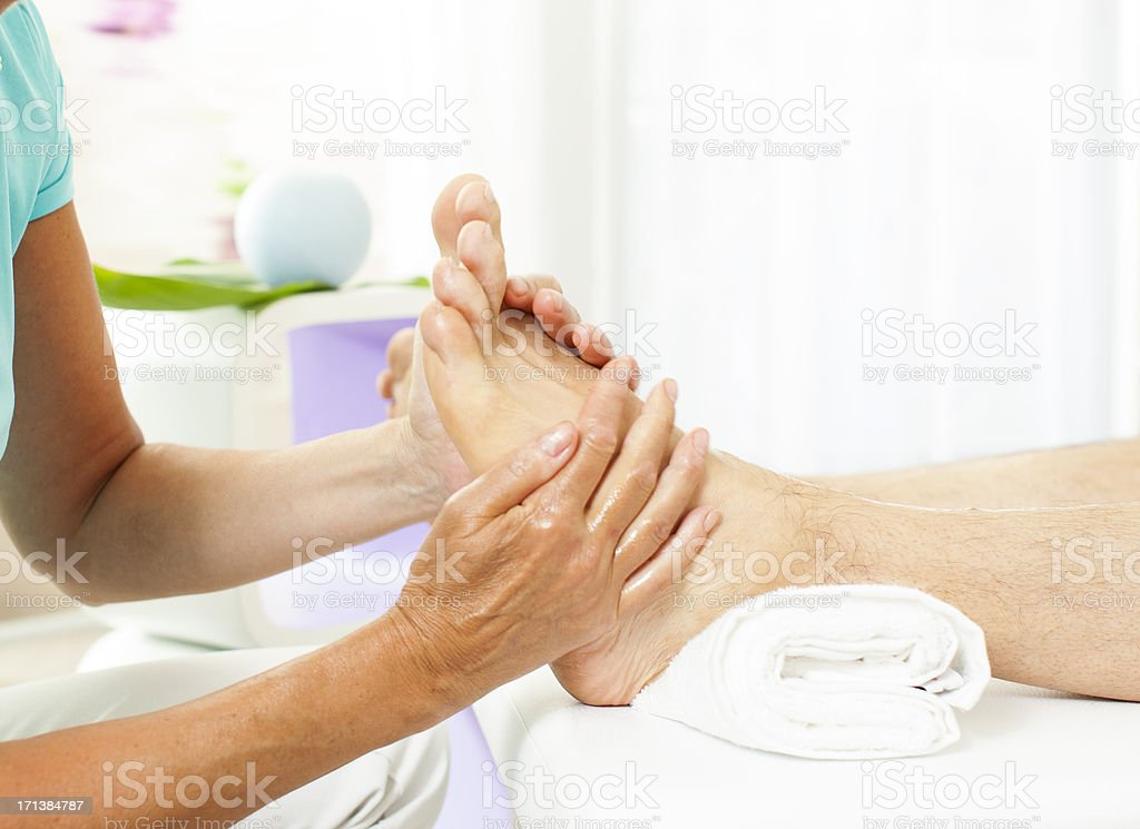 Foot Massage-reflexology royalty-free stock photo