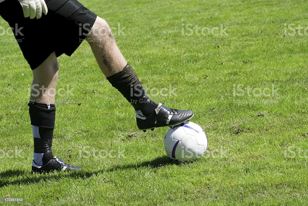Foot on the Ball royalty-free stock photo