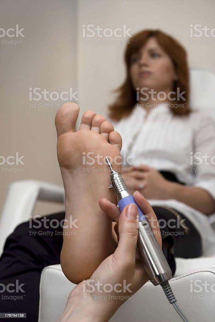 Foot Peeling stock photo