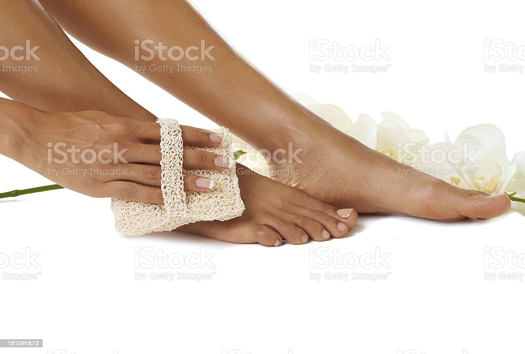 Foot perfection stock photo