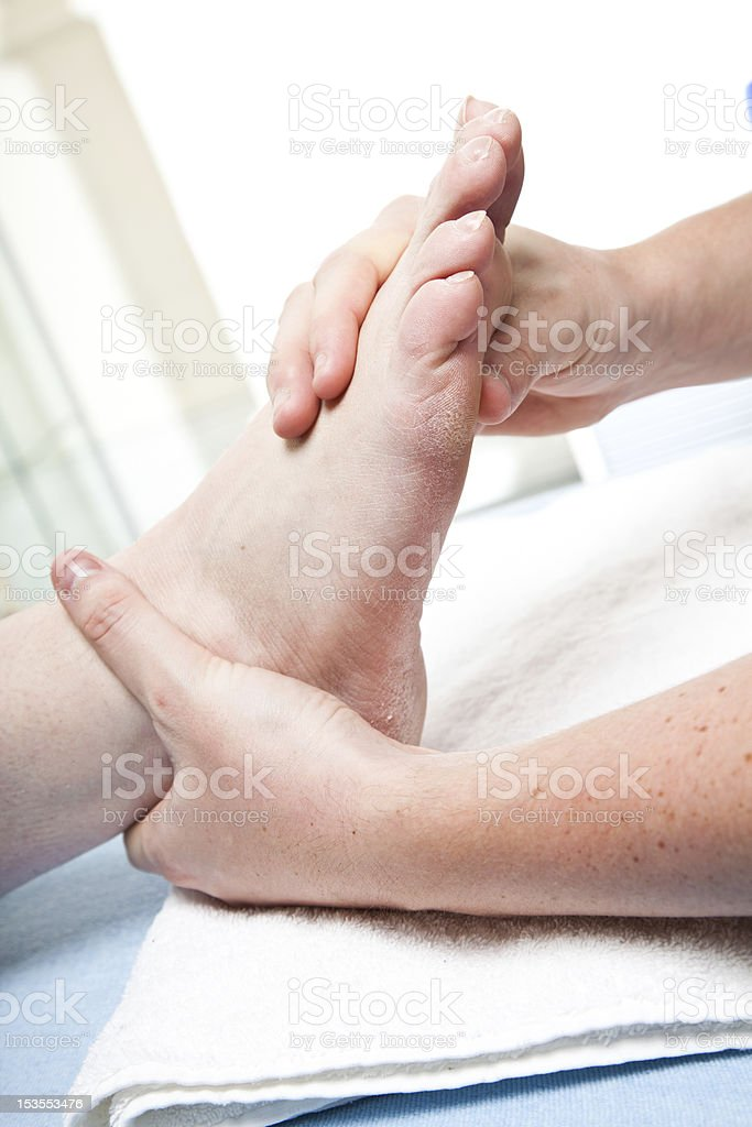 Foot physiotherapy royalty-free stock photo