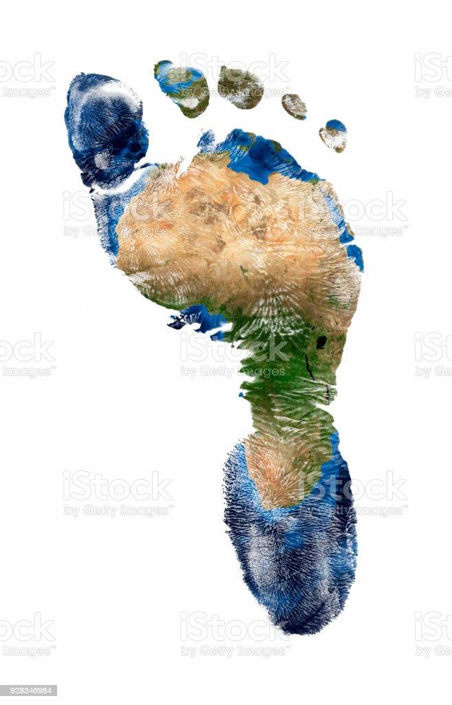 Fußdruck Afrikas – Foto