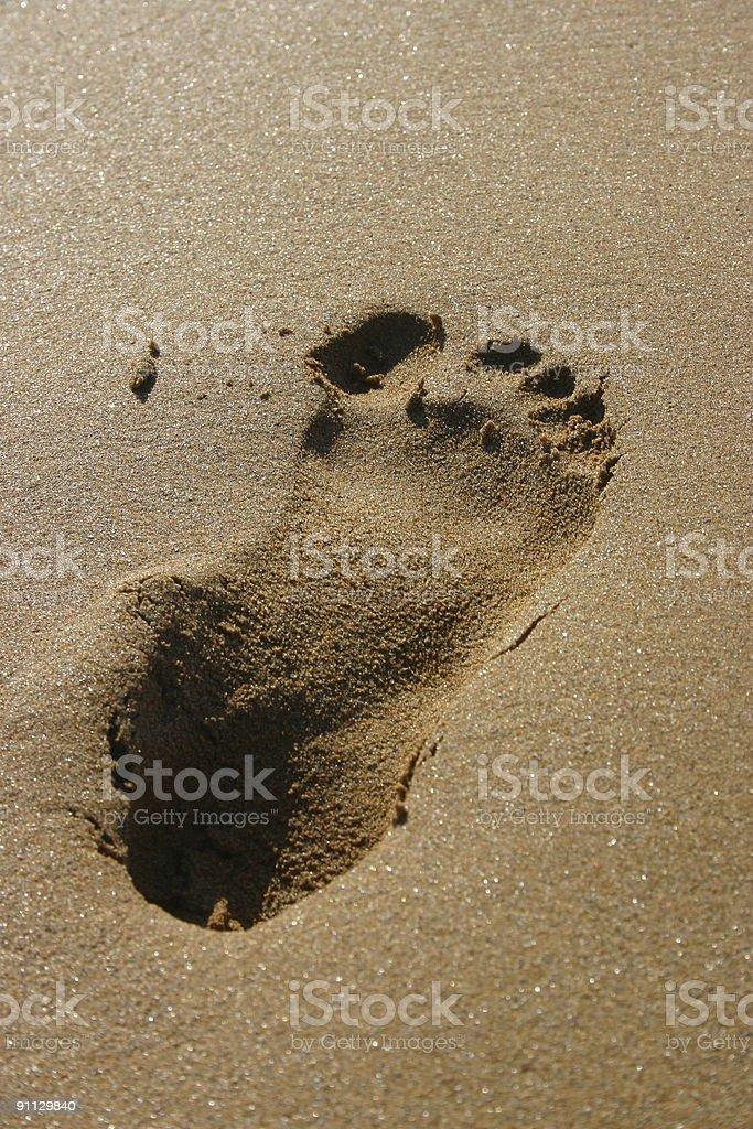 foot print royalty-free stock photo