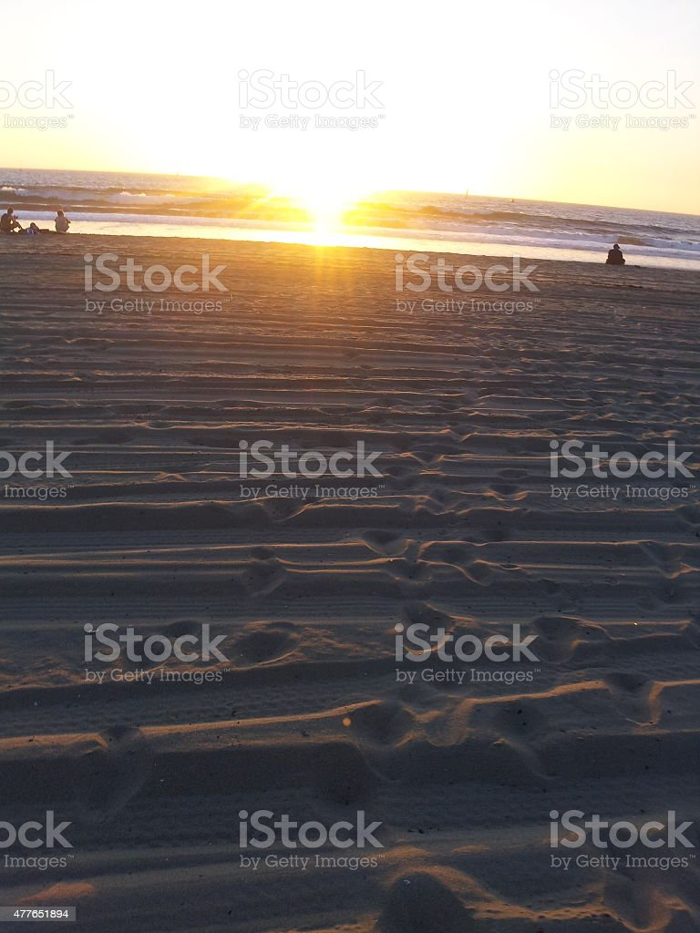 Foot prints in the sand royalty-free stock photo