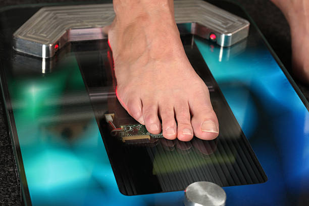 3D foot scanner Foot on a 3D foot scanner for orthotics 3d scanning stock pictures, royalty-free photos & images