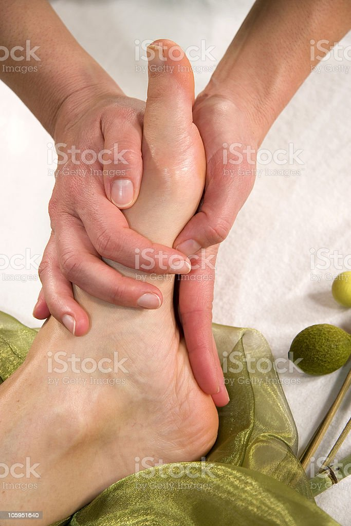 foot sole massage royalty-free stock photo