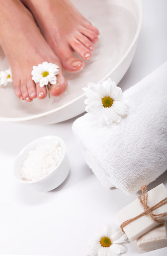 Foot Spa On White Background Stock Photo - Download Image Now