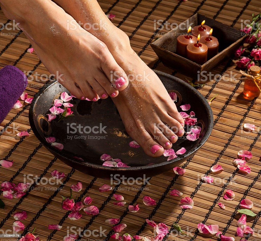Foot Spa Treatment stock photo