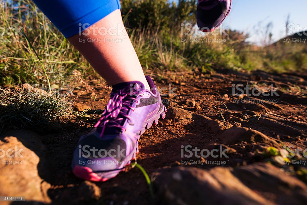 Foot To Ground stock photo