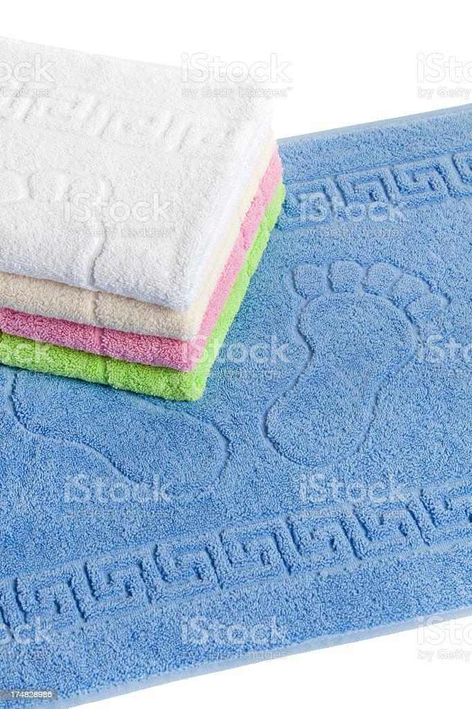 foot towels stock photo