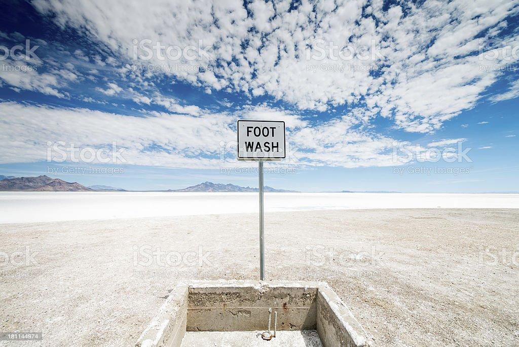 Foot Wash Basin Salt Flats Bonneville Utah Desert stock photo