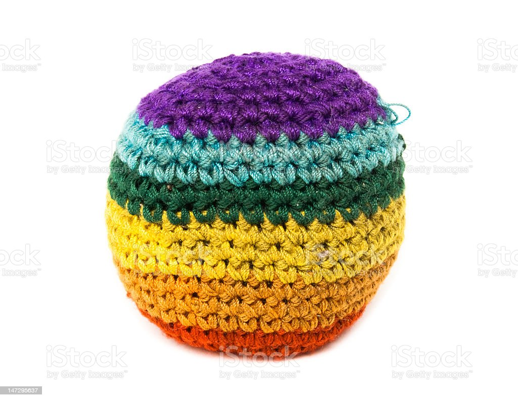 Footbag Color stock photo