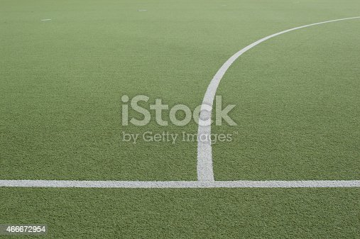 istock Footbal field and white line 466672954