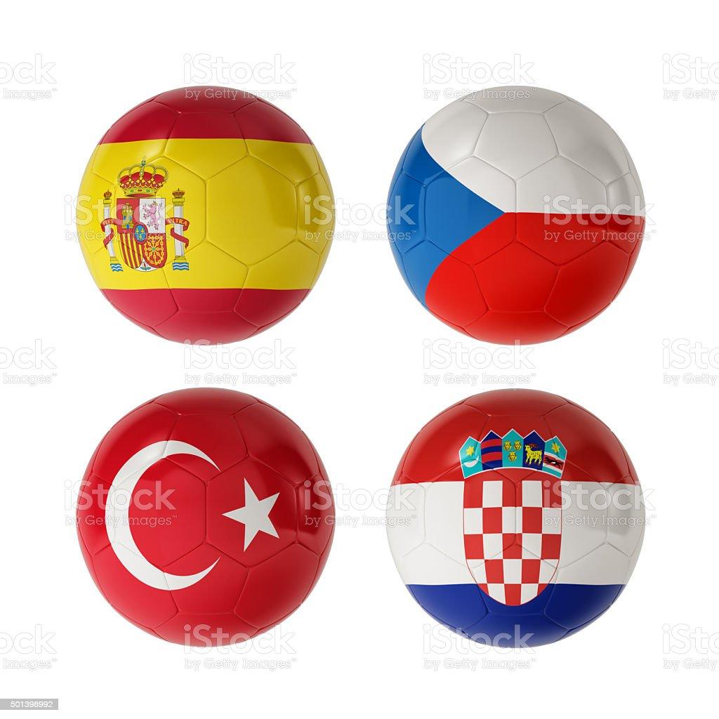 Calcio 2016 gruppo D - foto stock