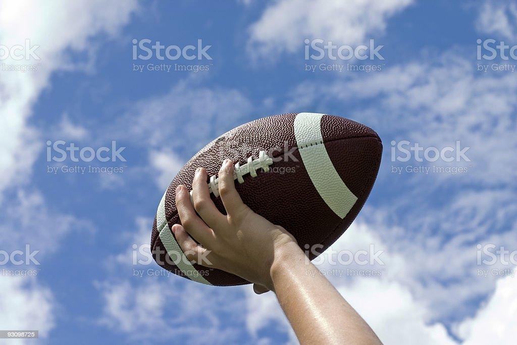 Football against Sky royalty-free stock photo