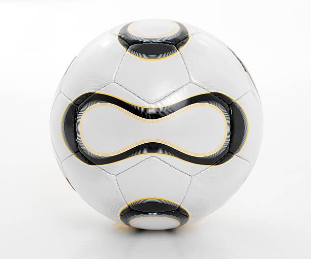 football aka soccer ball isolated against white background - internationaal voetbalevenement stockfoto's en -beelden