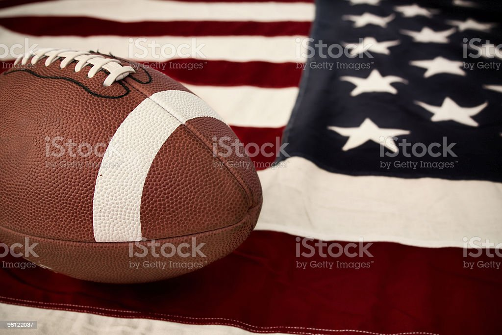 Football - America's Sport royalty-free stock photo