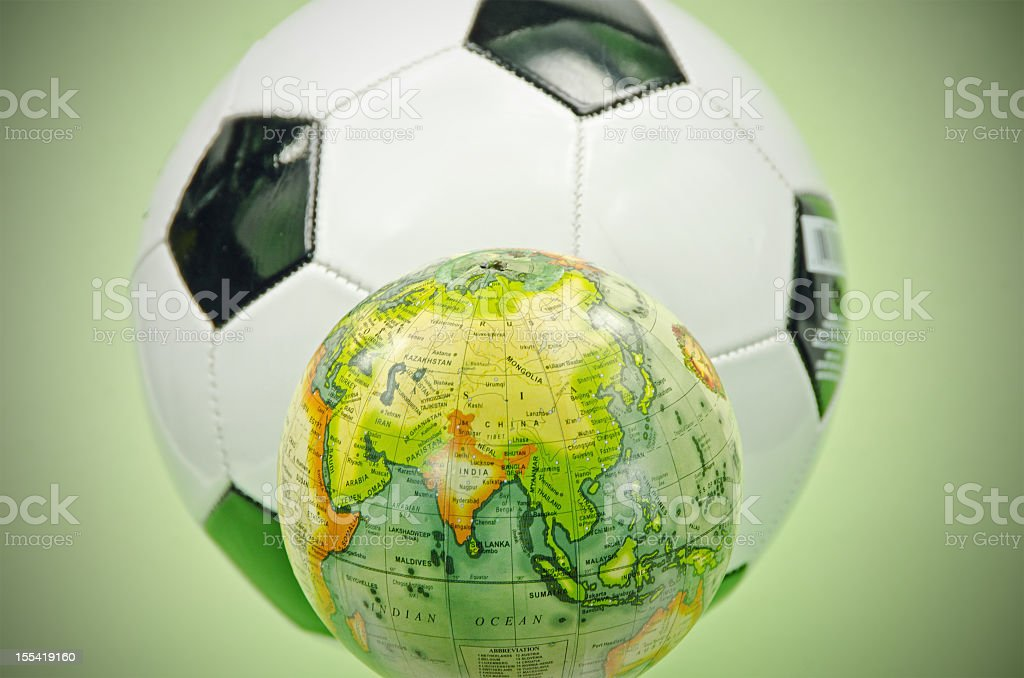 Football and Asia ... India royalty-free stock photo