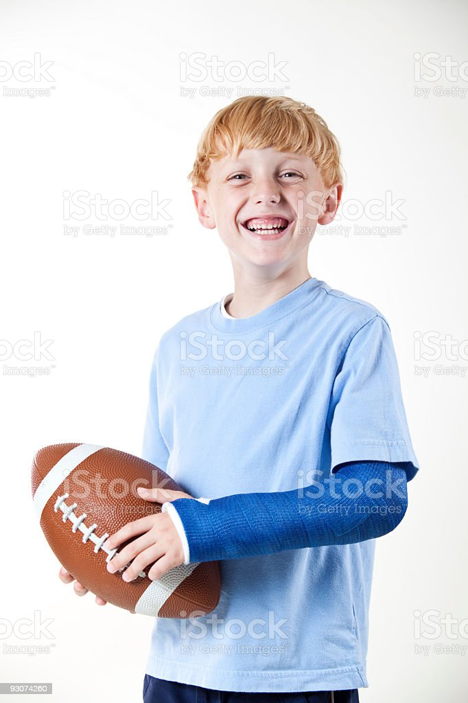 Football and Cast royalty-free stock photo