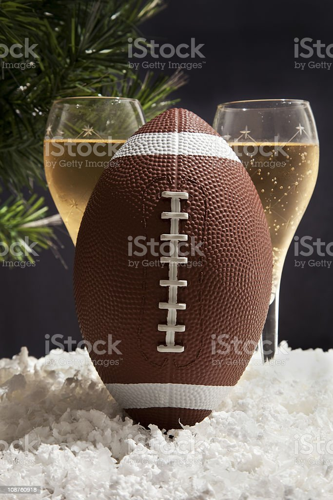 football and Champagne - Royalty-free Alcohol - Drink Stock Photo