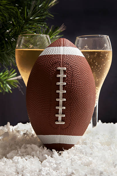 football and Champagne stock photo