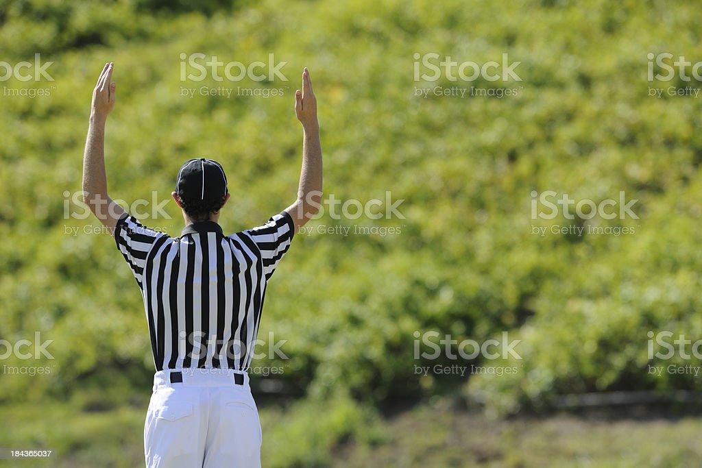 Football and Referee stock photo