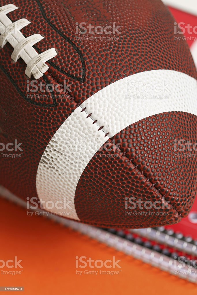 Football and school royalty-free stock photo