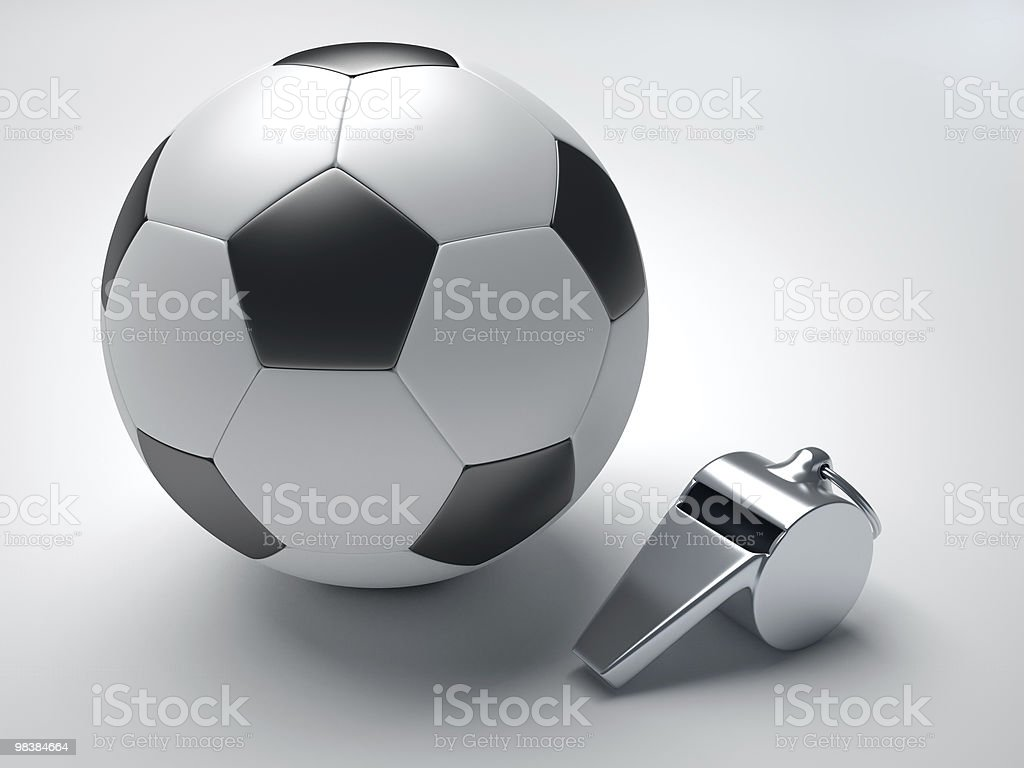 Football and whistle royalty-free stock photo